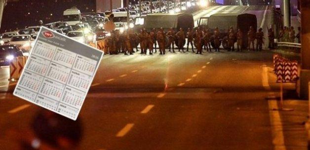 FETÖ 15 Temmuz'u TRT takviminde ilan etmiş