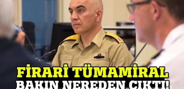 Firari Tümamiral NATO toplantısına katılmış!