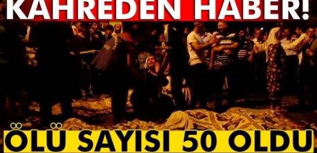 Gaziantep'teki terör saldırısında ölü sayısı 50'ye çıktı