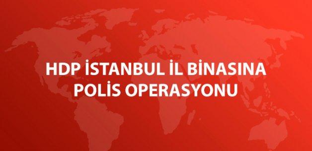 HDP İstanbul İl Örgütü Binasına Polis Operasyonu