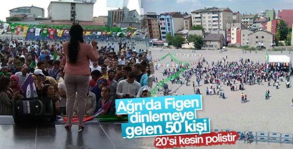 HDP'nin Ağrı mitingine ilgi az oldu