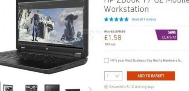 HP yanlışlıkla 6 liraya yeni bilgisayar sattı