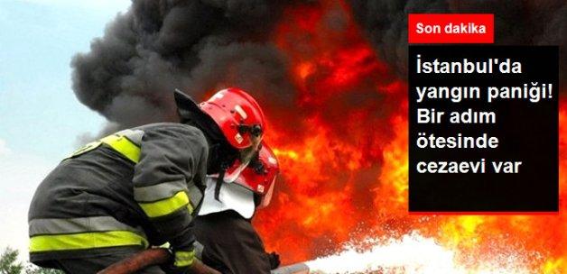 İstanbul'da Cezaevinin de Bulunduğu Alanda Yangın Paniği