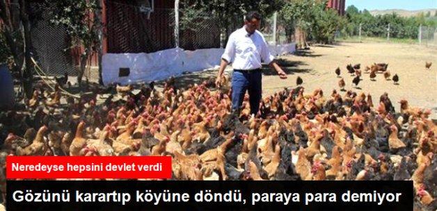 İstanbul'dan Köyüne Dönen Şemsettin Göl, Yumurta Satışından Ayda 5 Bin TL Kazanıyor