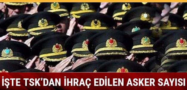 İşte TSK'dan ihraç edilen asker sayısı