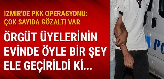 İzmir'de PKK operasyonu: Çok sayıda gözaltı var