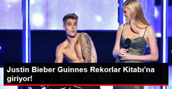 Justin Bieber Guinnes Rekorlar Kitabı'na Giriyor