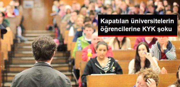 Kapatılan Üniversitelerdeki Öğrencilerin KYK Bursları Kesildi