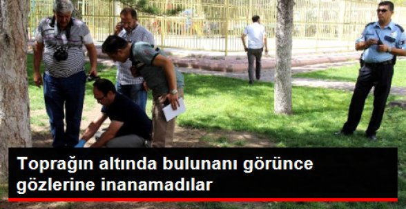 Kayseri'de toprağa gömülmüş halde 4 aylık olduğu tahmin