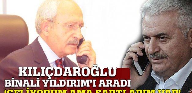 Kılıçdaroğlu, Başbakan Yıldırım'ı telefonla aradı: Mitinge geliyorum