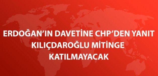 Kılıçdaroğlu Yenikapı'daki Mitinge Katılmayacak, Heyet Gönderecek