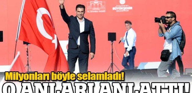 KKTC Başbakanı da Yenikapı'da milyonları selamladı