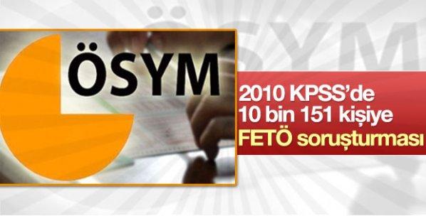 KPSS'de 10 bin 151 kişiye FETÖ soruşturması