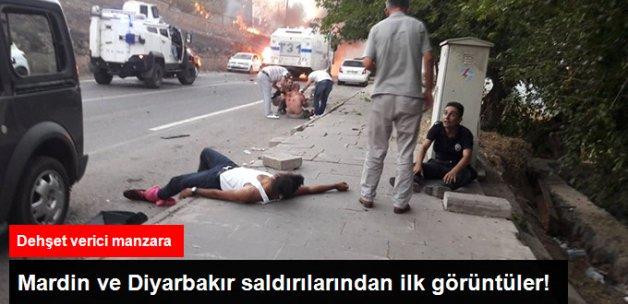 Mardin ve Diyarbakır Saldırılarından Dehşet Dolu Görüntüler