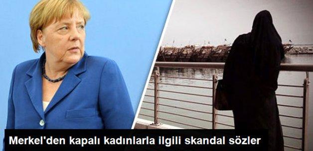 Merkel: Kapanan Kadının Topluma Uyum Sağlama Şansı Az