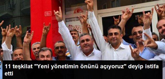 MHP'nin Manisa'daki 11 İlçe Teşkilatı İstifa Etti