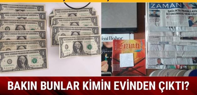 Midyat'ta PKK'lı 3 öğretmenin evinden 1 dolar çıktı