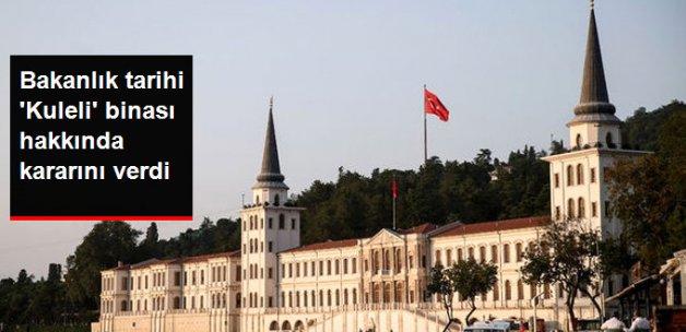 Milli Savunma Bakanlığı, Kuleli Askeri Lisesi'nin tarihi binasını