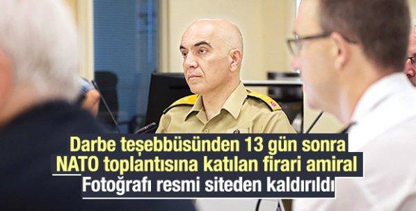 NATO darbeci amiralin resmini kaldırdı