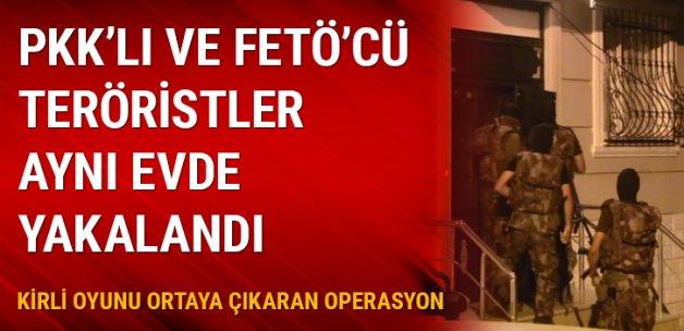 PKK'lı ve FETÖ'cü teröristler aynı evde yakalandı