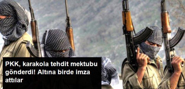 PKK Tehdit Ettiği Vatandaşlardan Karakollara Tehdit Mektubu Gönderdi