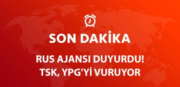 Rus Ajansı Duyurdu! TSK, YPG Mevzilerini Bombalıyor