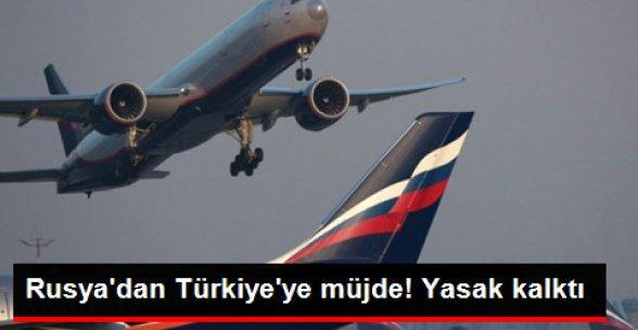 Rusya, Türkiye'ye Yönelik Charter Uçuş Yasağını Kaldırdı!