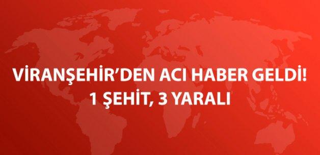 Şanlıurfa'da Zırhlı Aracın Geçişi Sırasında Patlama: 1 Şehit 3 Yaralı