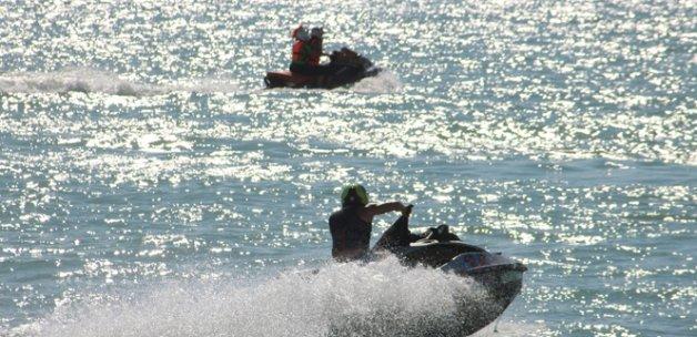 Su jeti heyecanı Beyşehir Gölü'nde sürüyor