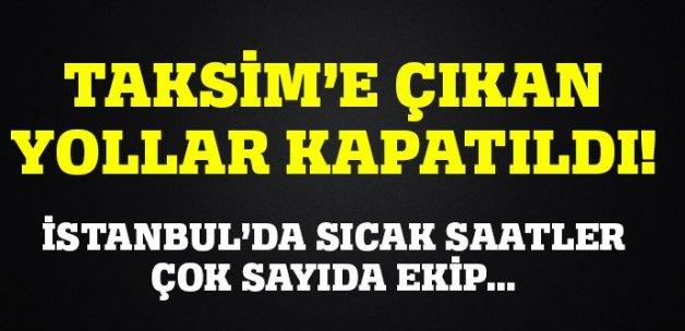 Taksim'de şüpheli bavul alarmı! Meydan kapatıldı