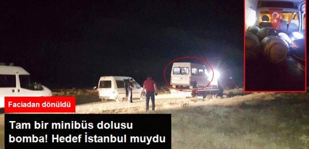 Tatvan'da Bir Minibüste 9 Varil Bomba Ele Geçirildi