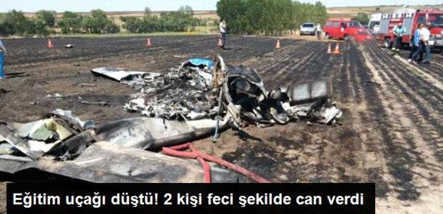 Tekirdağ Çorlu'dan Kalkan Eğitim Uçağı Düştü: 2 Ölü