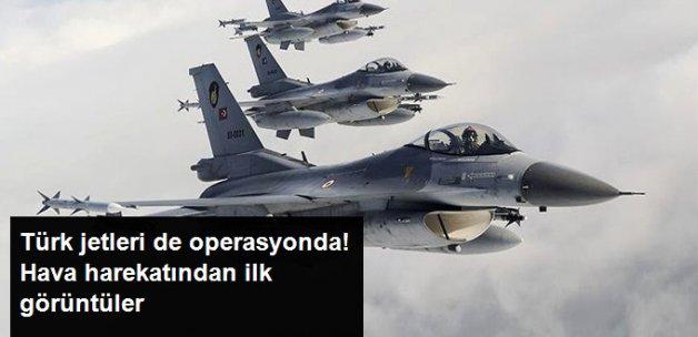 Türk F-16'lar da IŞİD'i Vuruyor! Hava Harekatından İlk Görüntüler