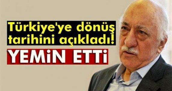Türkiye'ye dönüş tarihini açıkladı! Yemin etti...