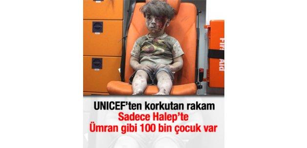 UNICEF: Halep'te Ümran gibi 100 bin çocuk var