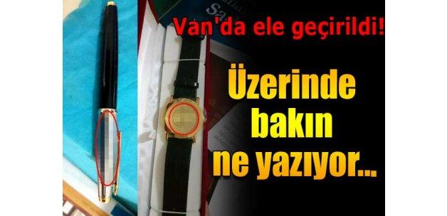 Üzerinde 'F.Gülen' yazılı materyaller bulundu