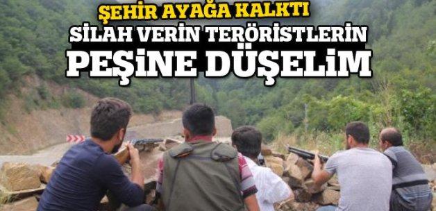 Vali: 'Vatandaşlar silah verin teröristlerin peşlerine düşelim' diyor
