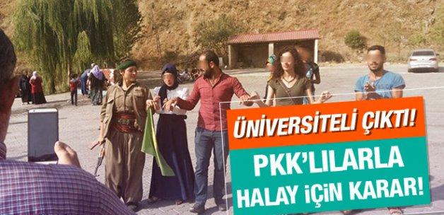 Yol kesen PKK'lılarla halay çeken öğrenci gözaltında!