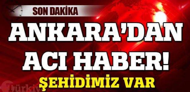 Ankara'dan acı haber geldi