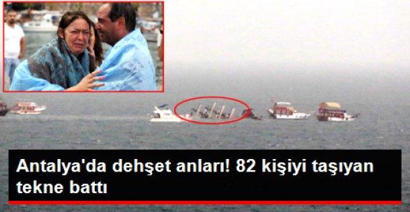 Antalya'da Tur Teknesi Battı; 79 Kişi Kurtarıldı, 2 Kişi Kayıp