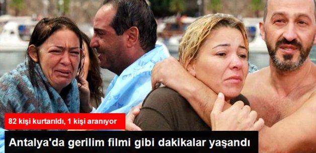 Antalya'da Tur Teknesi Battı! 82 Kişi Kurtarıldı 1 Kişi Aranıyor