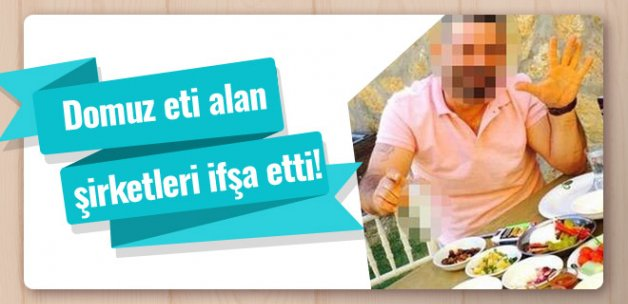 Aydın'da domuz eti satan kasapları ifşa etti