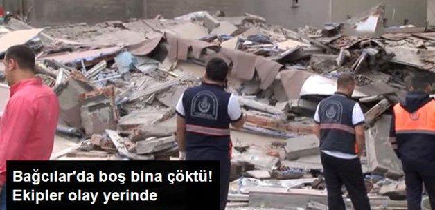 Bağcılar'da Boşaltılmış Bina Çöktü!