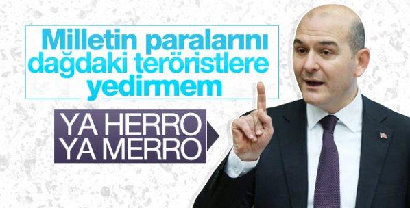 Bakan Soylu'dan HDP'li belediyelere: Ya herro ya merro
