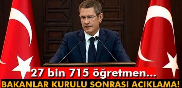 Başbakan Yardımcısı Canikli'den öğretmenlerle ilgili açıklama