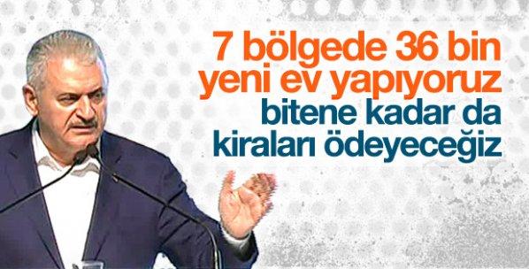 Başbakan Yıldırım: 7 bölgede 36 bin konut yapılacak