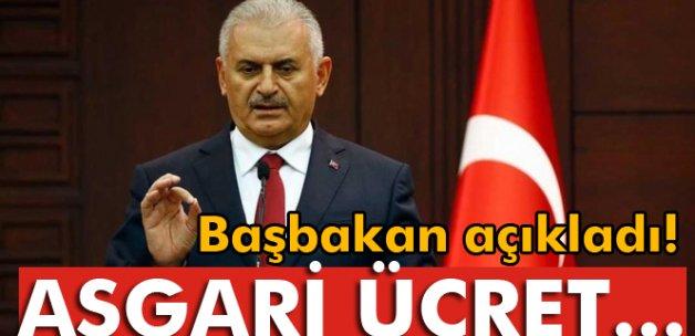 Başbakan Yıldırım: 'Asgari ücret bin 300 liranın altına düşmeyecek'