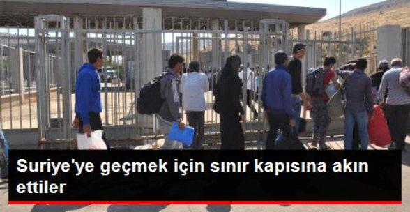 Bayramlaşmaya İlk Gün 5 Bin Suriyeli Gitti
