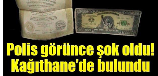 Bir milyon dolarlık banknot polisi şaşkına çevirdi