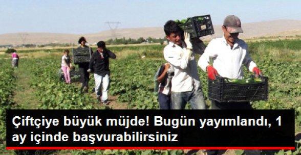 Çiftçi Borçlarına 1 Yıl Erteleme Resmi Gazete'de